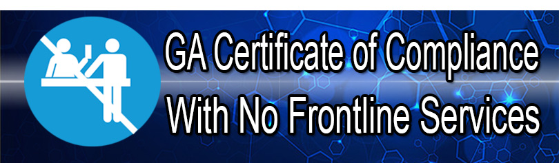 GA Certificate of Compliance with No Frontline Services